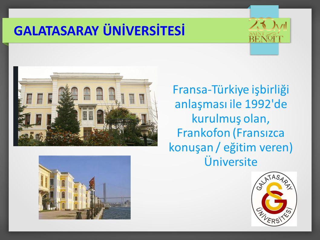 1) LYS : Öğrenci mevcudunun % 50'si üniversite sınavı ile alınır.
