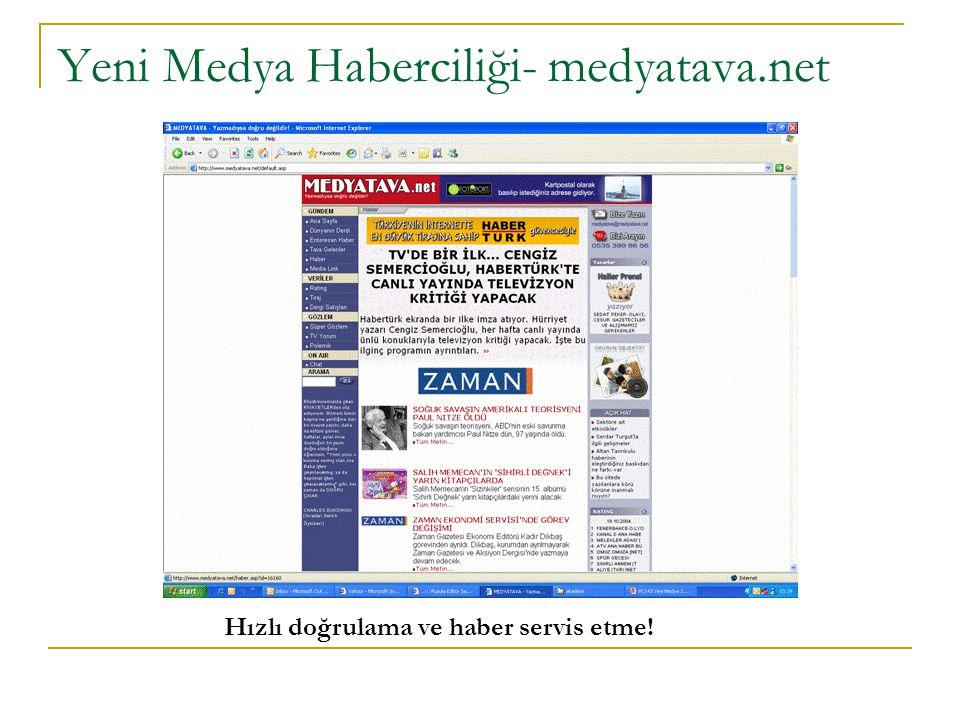 Yeni Medya Haberciliği- medyatava.net Hızlı doğrulama ve haber servis etme!