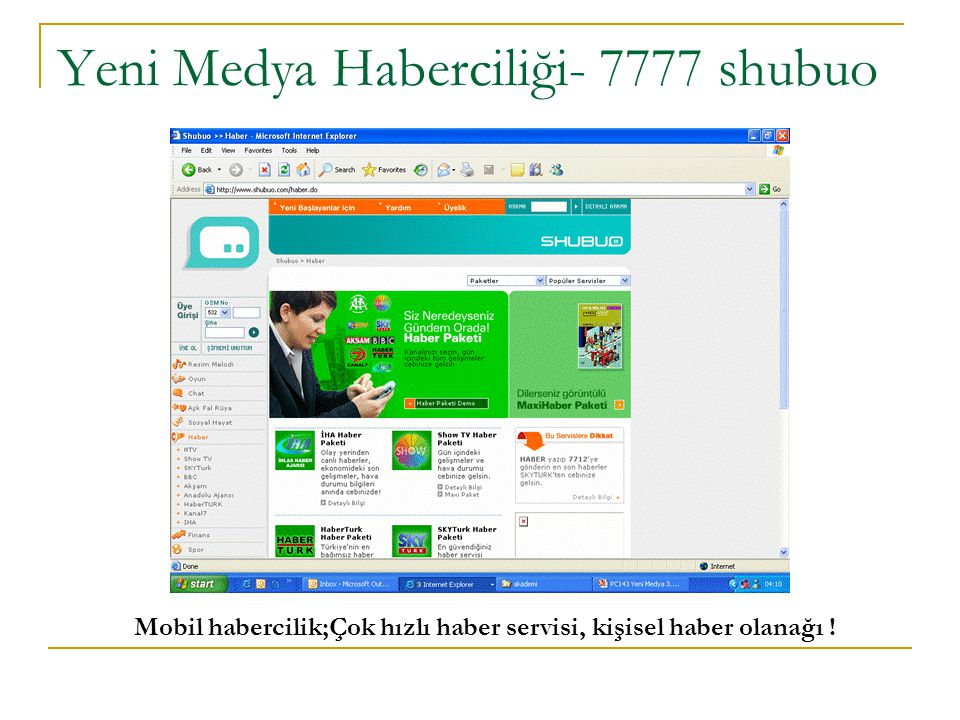 Yeni Medya Haberciliği- 7777 shubuo Mobil habercilik;Çok hızlı haber servisi, kişisel haber olanağı !