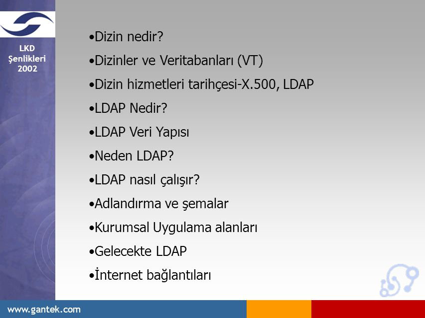 LKD Şenlikleri 2002 www.gantek.com Dizin nedir.