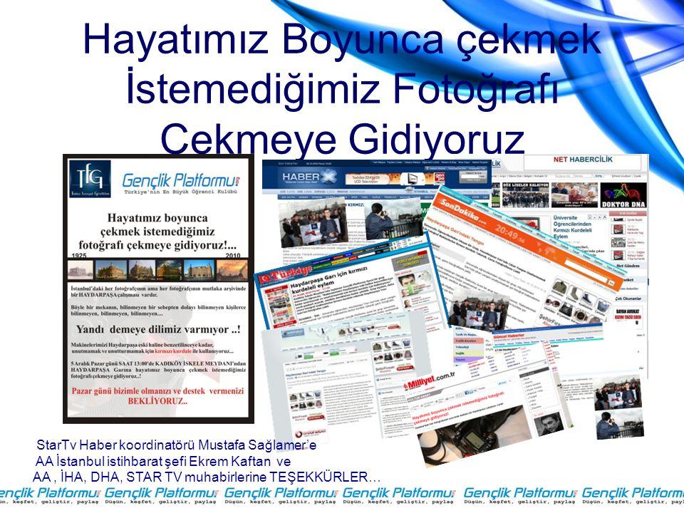 Hayatımız Boyunca çekmek İstemediğimiz Fotoğrafı Çekmeye Gidiyoruz StarTv Haber koordinatörü Mustafa Sağlamer'e AA İstanbul istihbarat şefi Ekrem Kaft