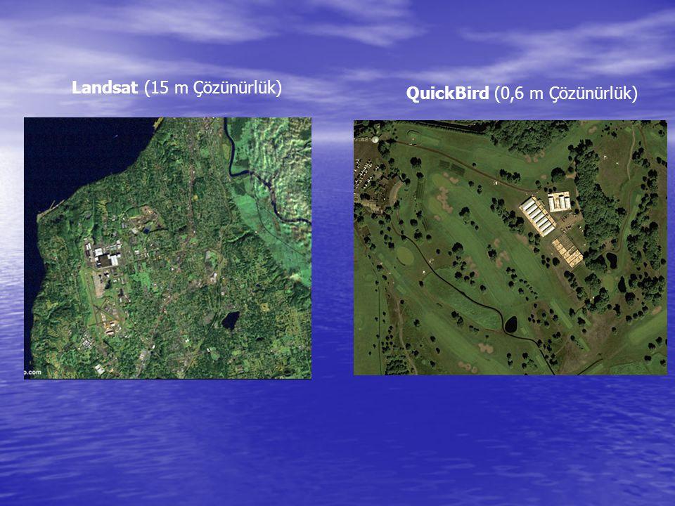 Landsat (15 m Çözünürlük) QuickBird (0,6 m Çözünürlük)