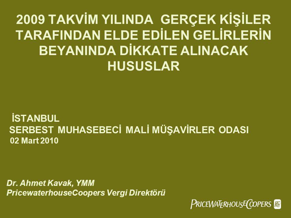 PricewaterhouseCoopersSlide 42 ÖRNEK : Türkiye Jokey Kulübünce organize edilen yarışmalara katılan jokey 2009 yılında aldığı 48.650.- TL ücretten gelir vergisi kesintisi yapılmıştır.