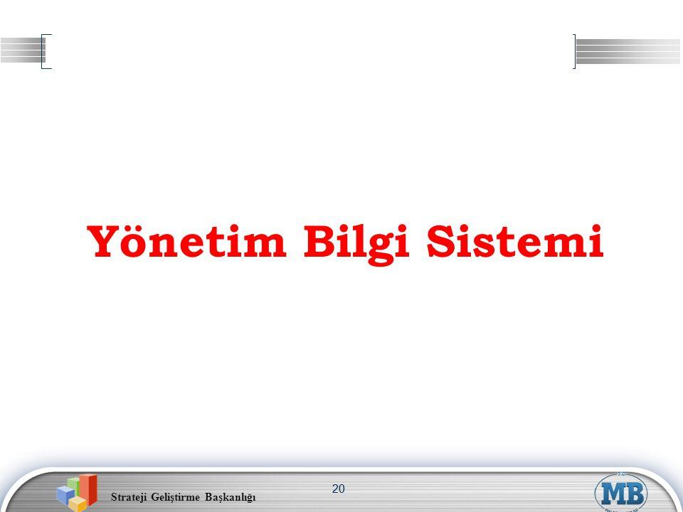 Strateji Geliştirme Başkanlığı 20 Yönetim Bilgi Sistemi