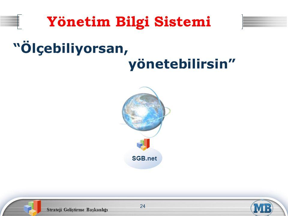 """Strateji Geliştirme Başkanlığı 24 SGB.net """"Ölçebiliyorsan, yönetebilirsin"""" Yönetim Bilgi Sistemi"""