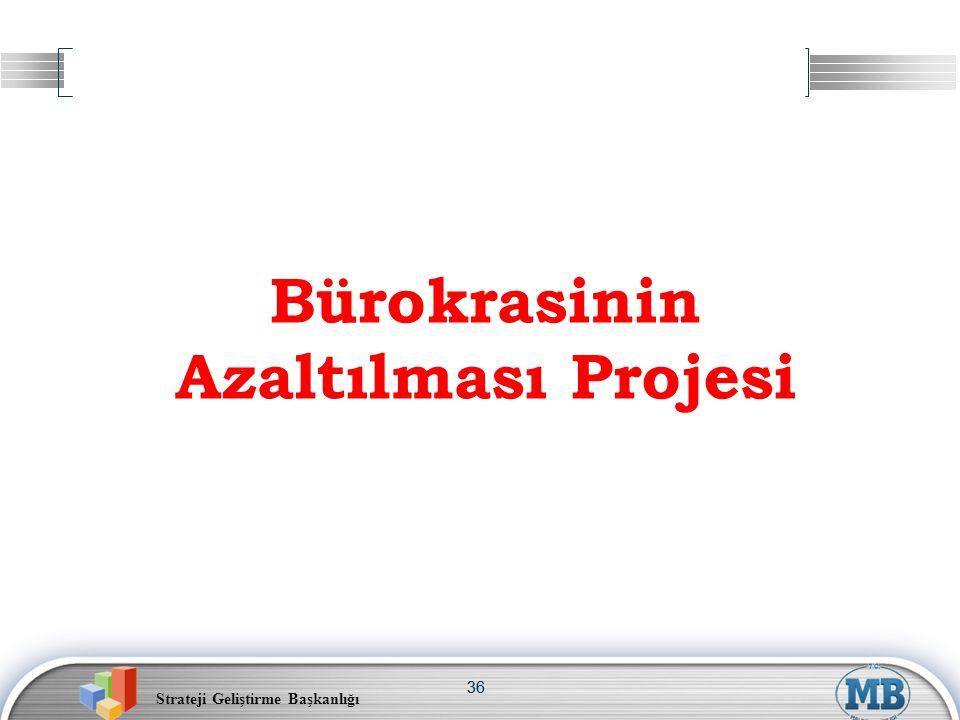 Strateji Geliştirme Başkanlığı 36 Bürokrasinin Azaltılması Projesi