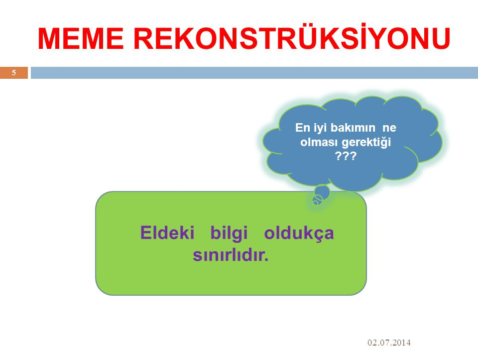 MEME REKONSTRÜKSİYONU Holtzmann, J.S, & Timm, H. (2005).