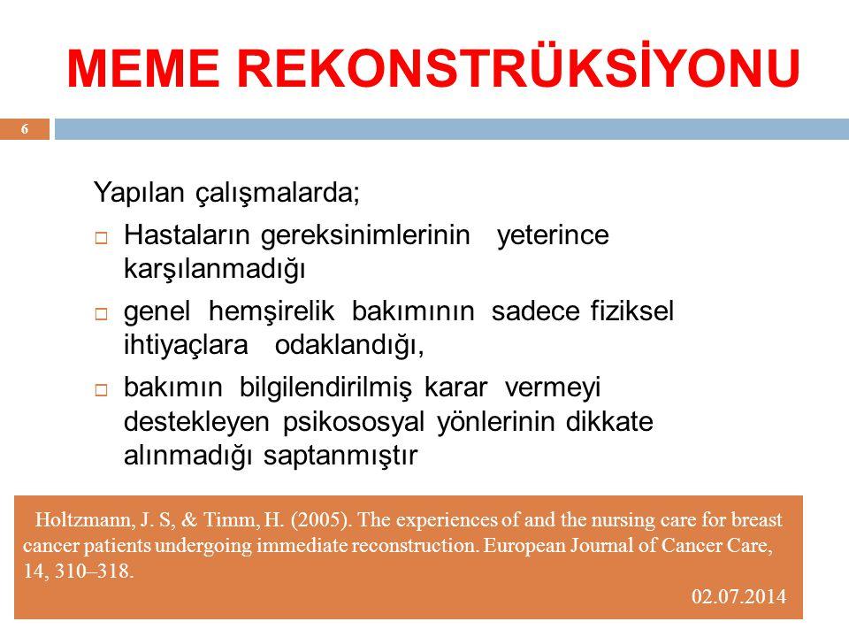 Meme rekonstrüksiyonu aşamaları 02.07.2014 27 1.