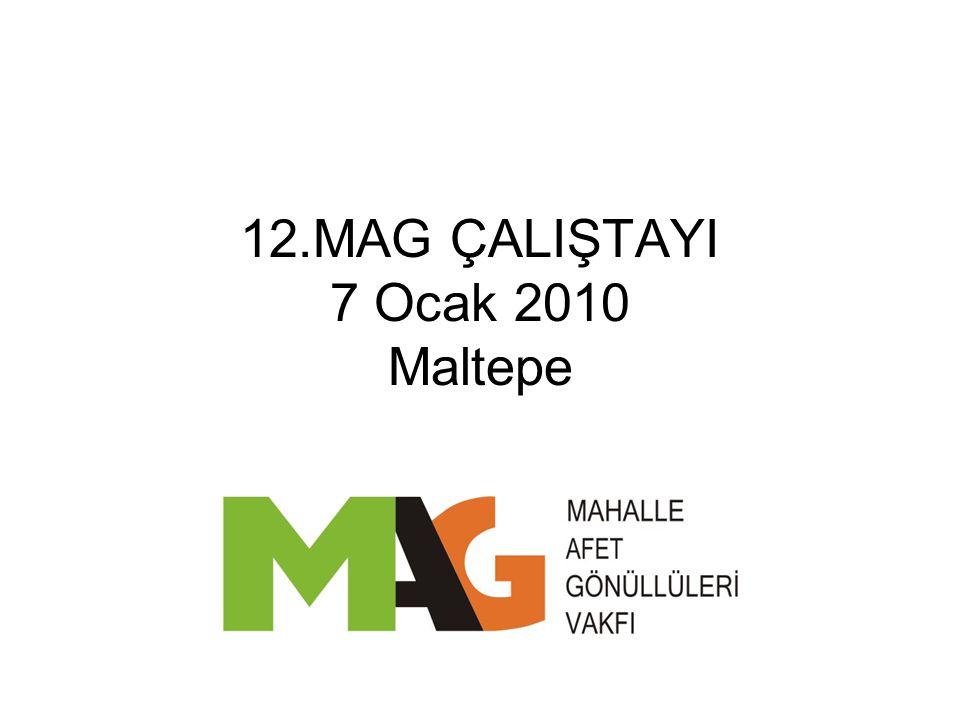 12.MAG ÇALIŞTAYI 7 Ocak 2010 Maltepe