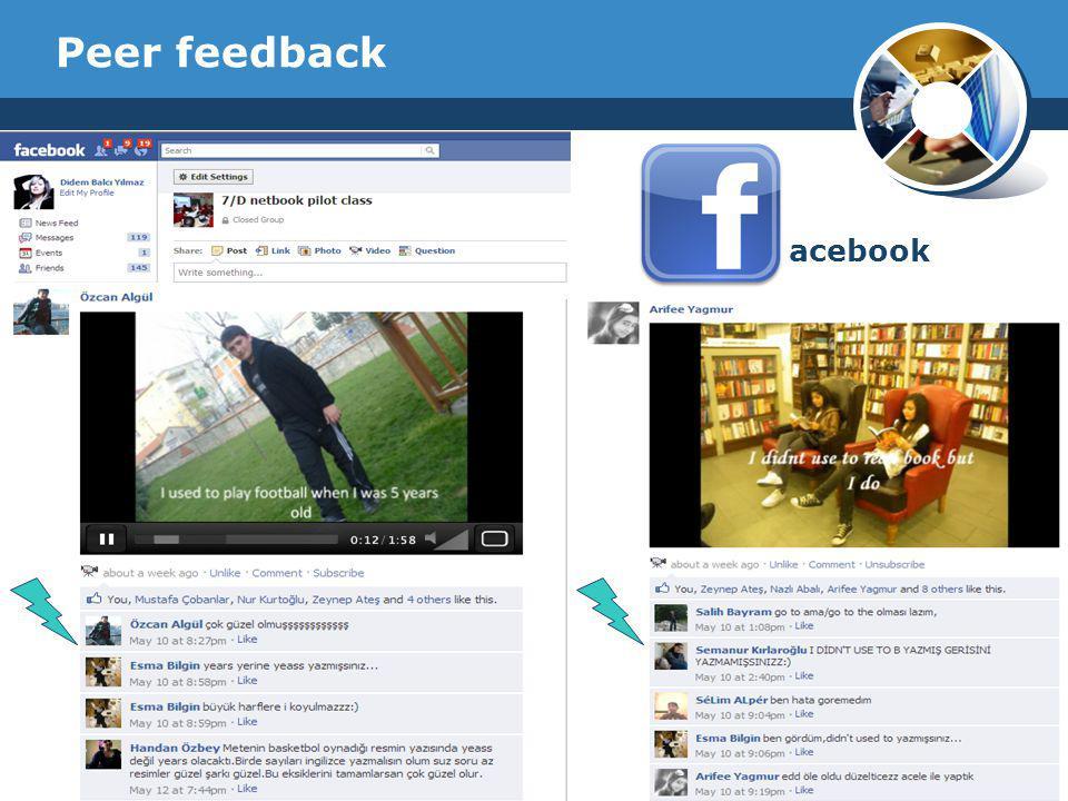 Company Logo Peer feedback acebook