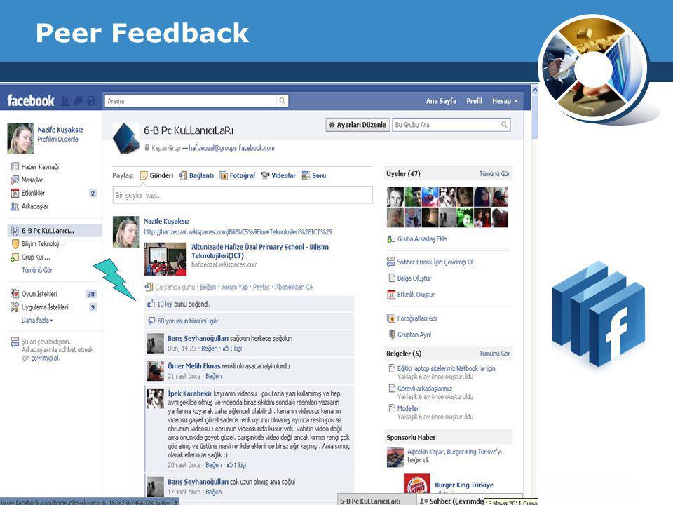 Company Logo Peer Feedback