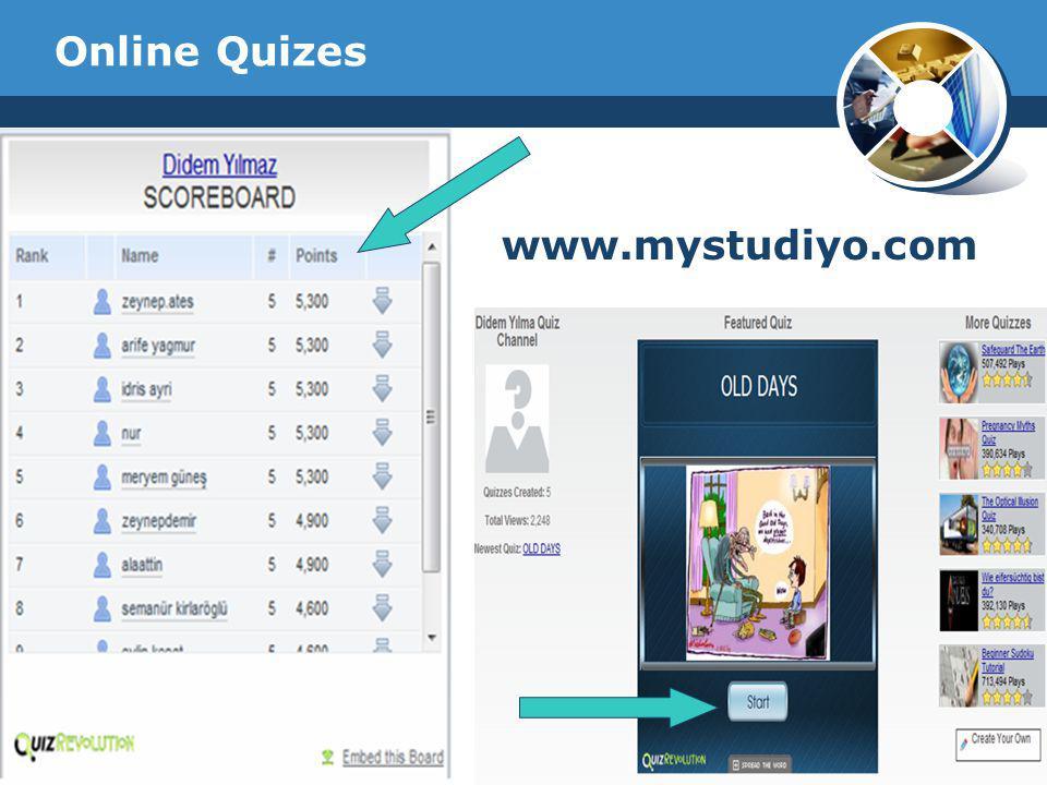 Company Logo Online Quizes www.mystudiyo.com