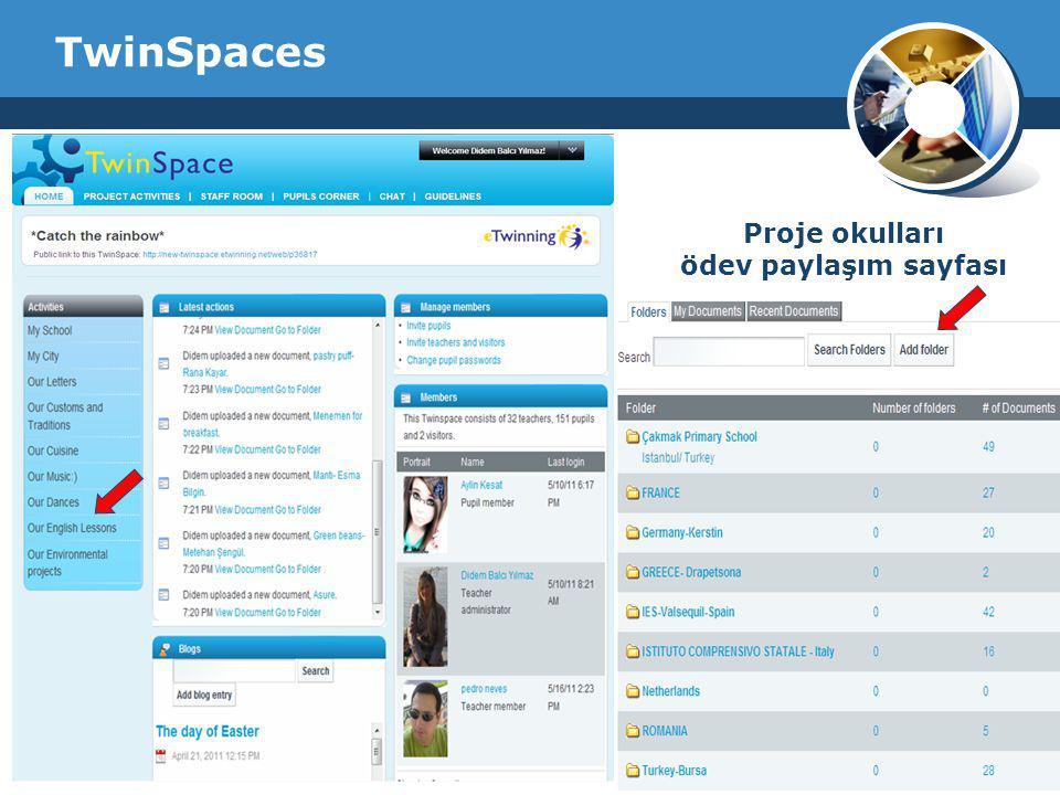 Company Logo TwinSpaces Proje okulları ödev paylaşım sayfası
