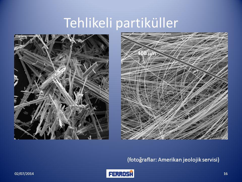 Tehlikeli partiküller 50  m 100  m (fotoğraflar: Amerikan jeolojik servisi) 02/07/201416