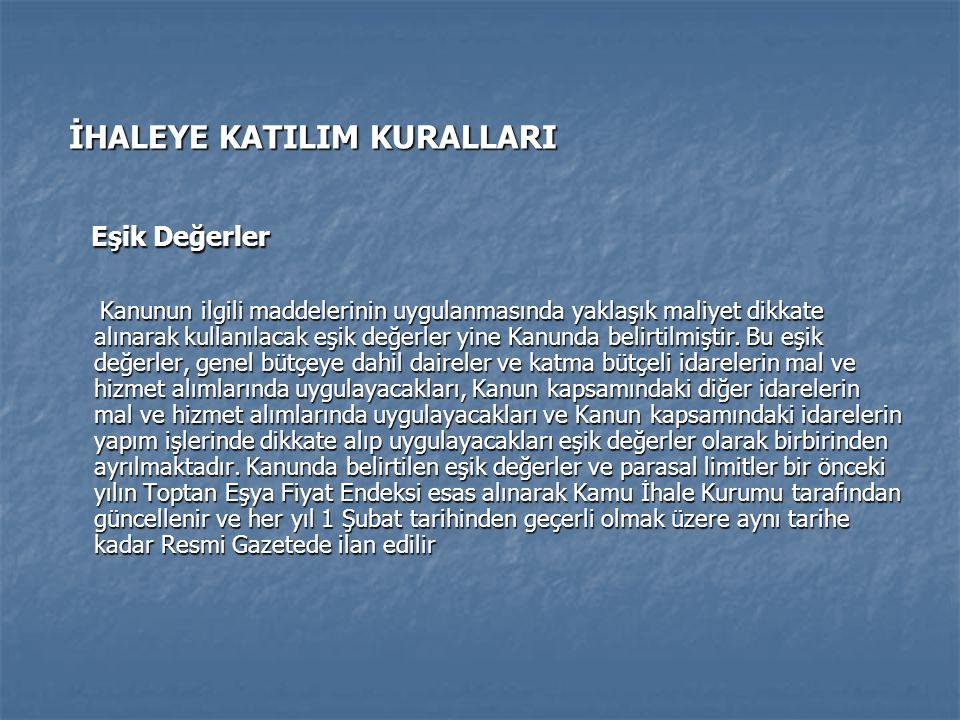 KAYNAKÇA KAYNAKÇA Aksoy, M.ve Şimşek M. (2010). En Son Değişikliklerle Kamu Alımları İhale Süreci.