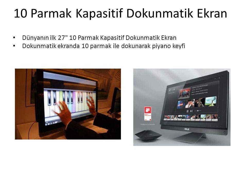 • Dünyanın ilk 27 10 Parmak Kapasitif Dokunmatik Ekran • Dokunmatik ekranda 10 parmak ile dokunarak piyano keyfi 10 Parmak Kapasitif Dokunmatik Ekran