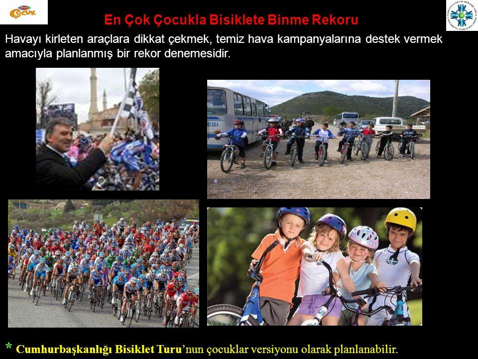En Çok Çocukla Yardım Toplama Kampanyası Bir veya birden fazla yerde Unicef, Lösev, TED vb.