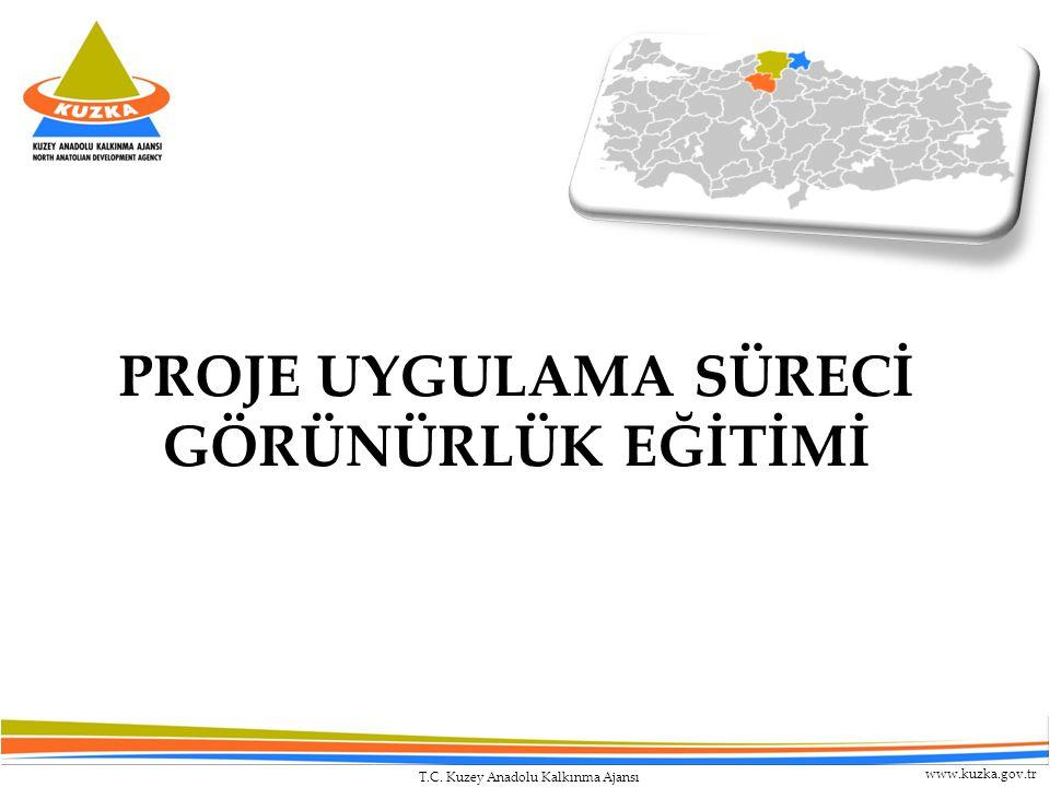 T.C. Kuzey Anadolu Kalkınma Ajansı www.kuzka.gov.tr PROJE UYGULAMA SÜRECİ GÖRÜNÜRLÜK EĞİTİMİ
