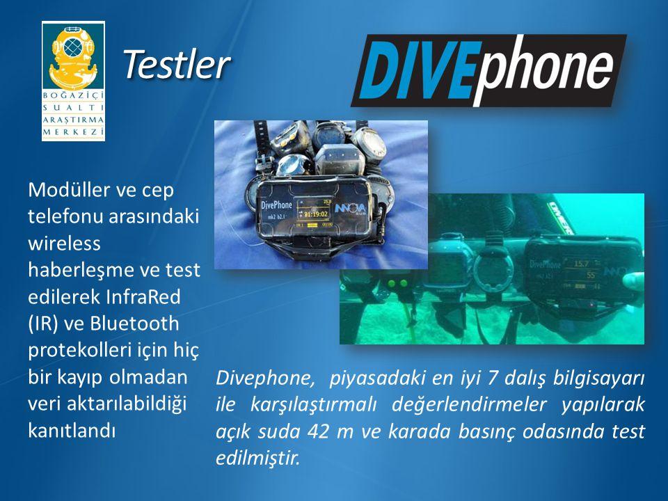 TestlerTestler Modüller ve cep telefonu arasındaki wireless haberleşme ve test edilerek InfraRed (IR) ve Bluetooth protekolleri için hiç bir kayıp olm