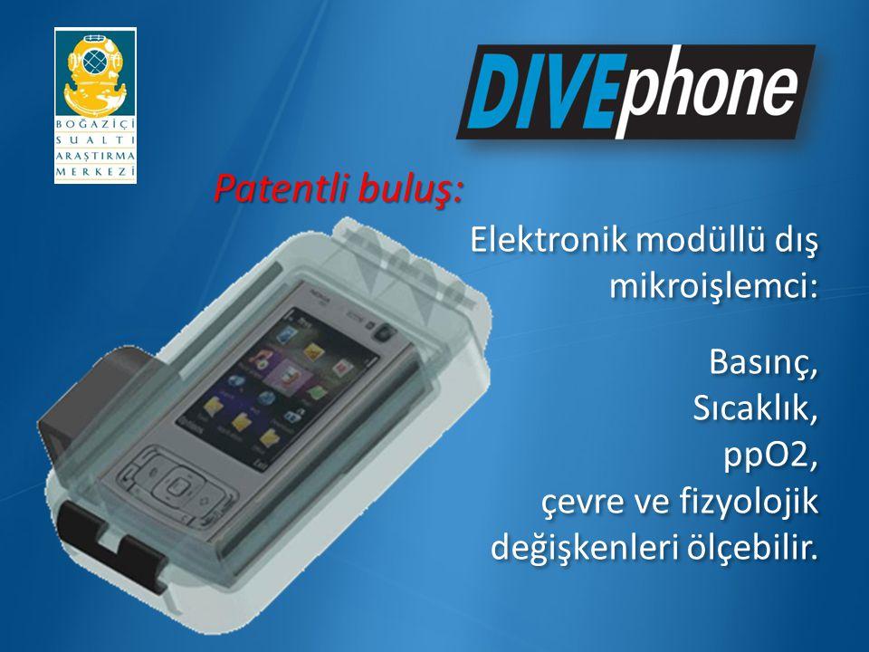 ÖzelliklerÖzellikler Kullanıcı dostu olarak tasarlanan bu menüler dalgıçların Divephone un bütün özelliklerini kolayca kullanmalarını sağlar.