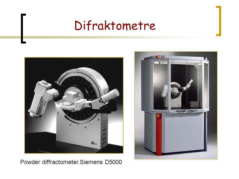 Powder diffractometer.Siemens D5000 Difraktometre