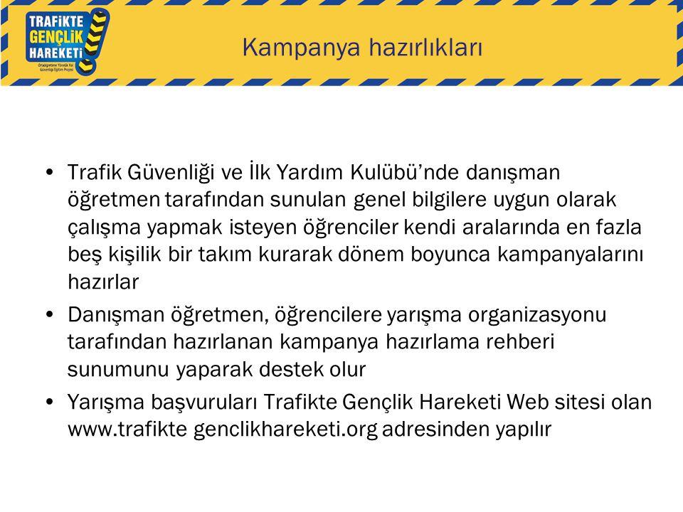 •Trafik Güvenliği ve İlk Yardım Kulübü'nde danışman öğretmen tarafından sunulan genel bilgilere uygun olarak çalışma yapmak isteyen öğrenciler kendi a