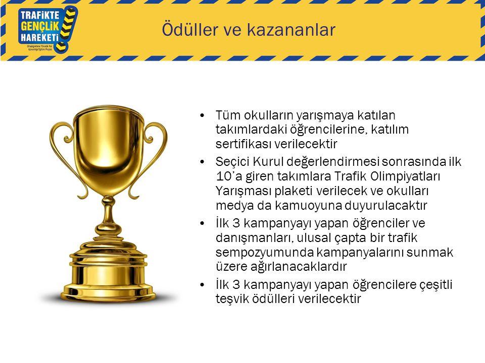 Ödüller ve kazananlar •Tüm okulların yarışmaya katılan takımlardaki öğrencilerine, katılım sertifikası verilecektir •Seçici Kurul değerlendirmesi sonr