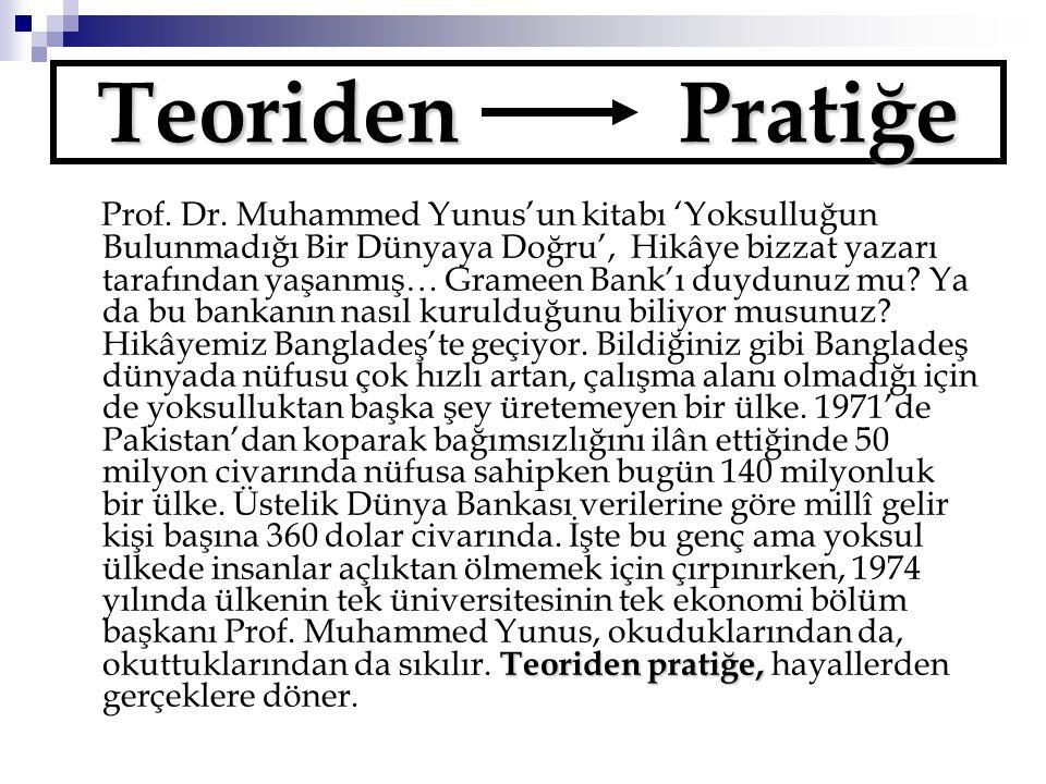 Teoriden Pratiğe Teoriden pratiğe, Prof.Dr.