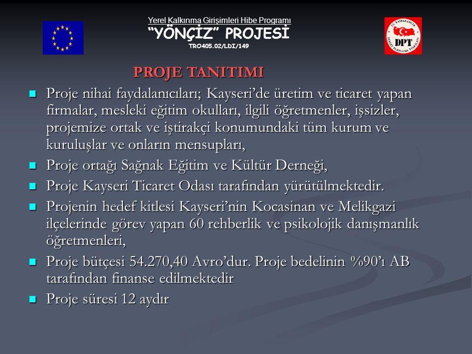  Proje nihai faydalanıcıları; Kayseri'de üretim ve ticaret yapan firmalar, mesleki eğitim okulları, ilgili öğretmenler, işsizler, projemize ortak ve