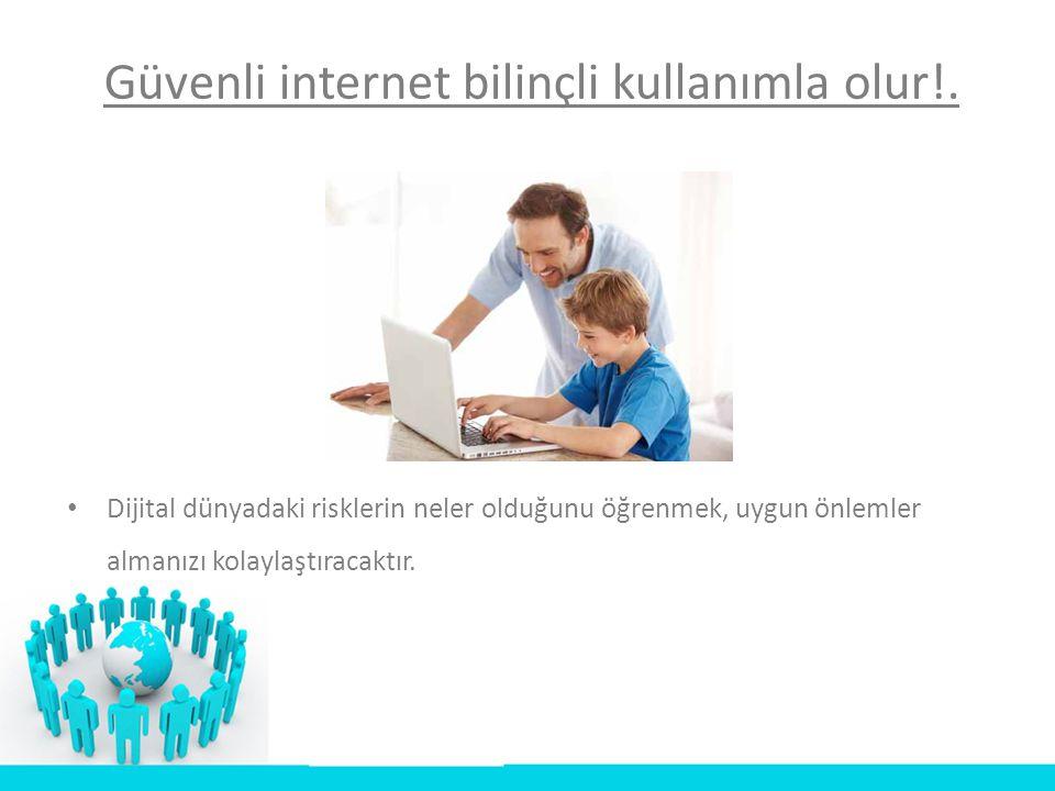 • 3) İnternet bir medya aracıdır: Gazeteler, dergiler, yazarlar, internet haber siteleri, son dakika haberleri elinizin altındadır.