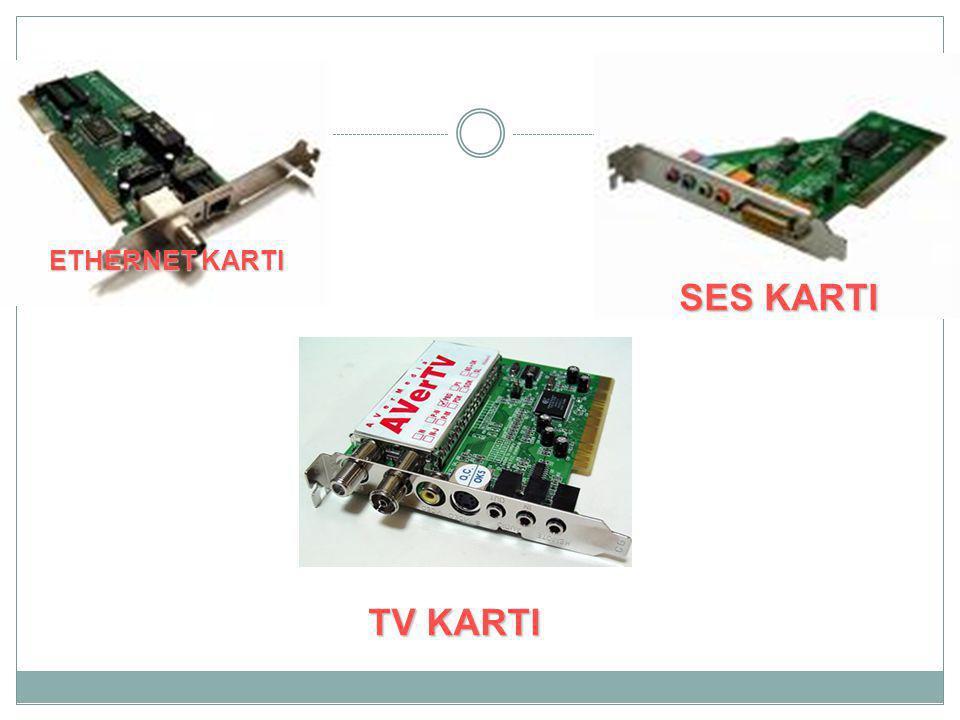 ETHERNET KARTI TV KARTI SES KARTI