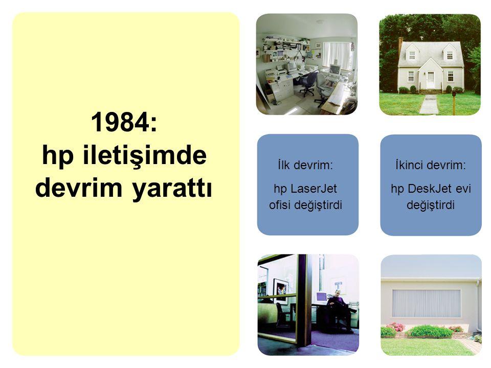 1984: hp iletişimde devrim yarattı İlk devrim: hp LaserJet ofisi değiştirdi İkinci devrim: hp DeskJet evi değiştirdi