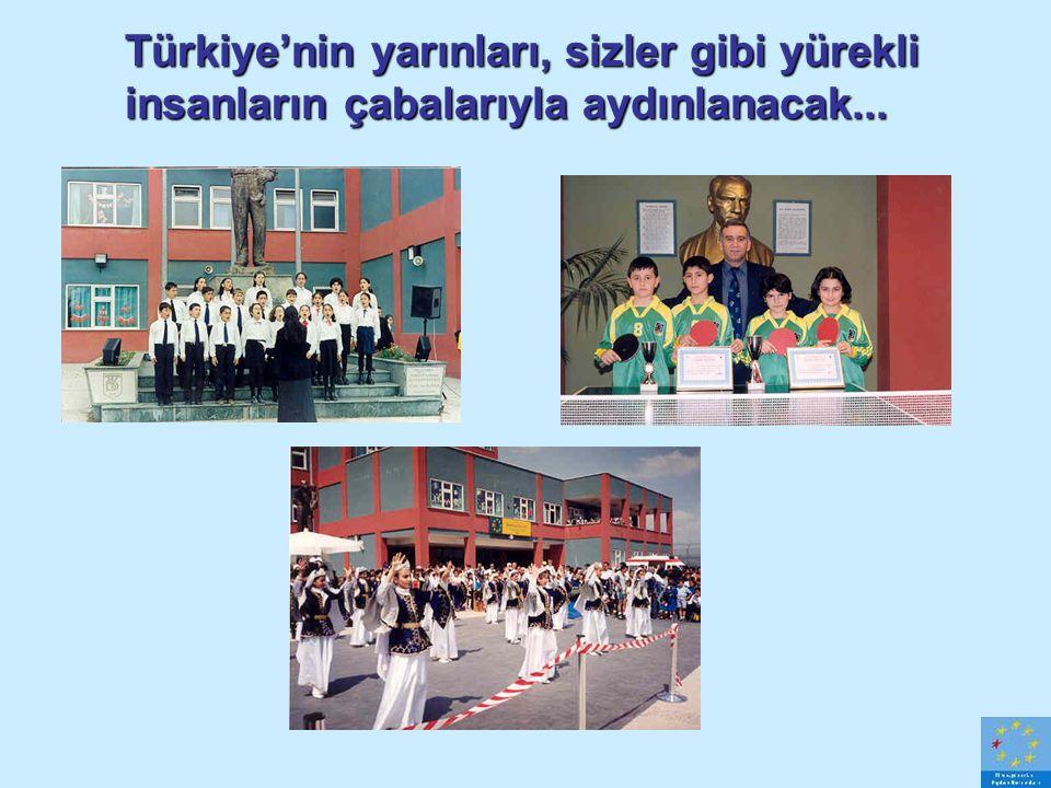 Türkiye'nin yarınları, sizler gibi yürekli insanların çabalarıyla aydınlanacak...