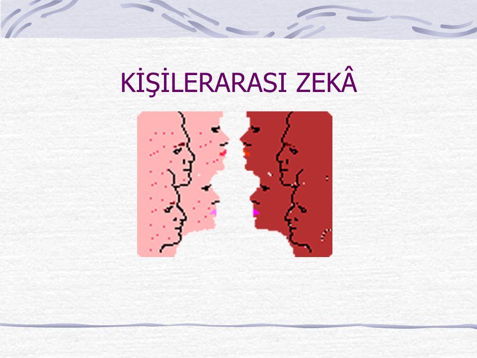 KİŞİLERARASI ZEKÂ
