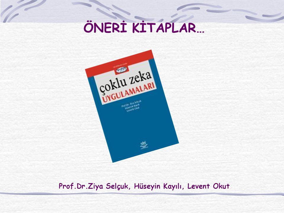 ÖNERİ KİTAPLAR… Prof.Dr.Ziya Selçuk, Hüseyin Kayılı, Levent Okut
