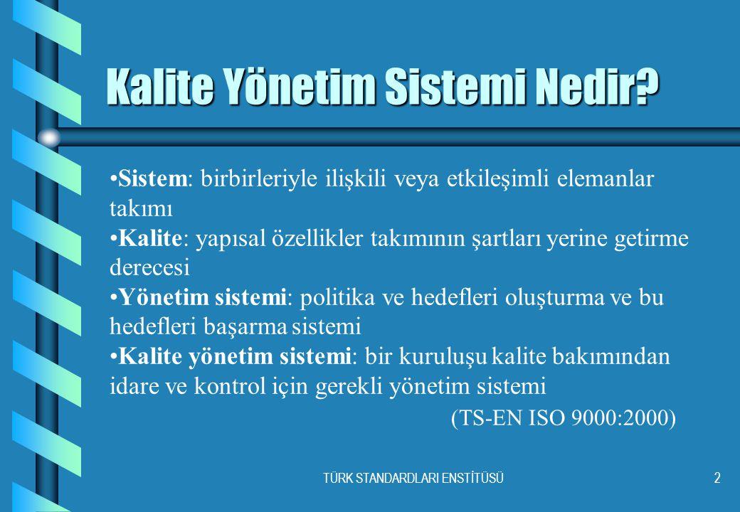 TÜRK STANDARDLARI ENSTİTÜSÜ2 Kalite Yönetim Sistemi Nedir.