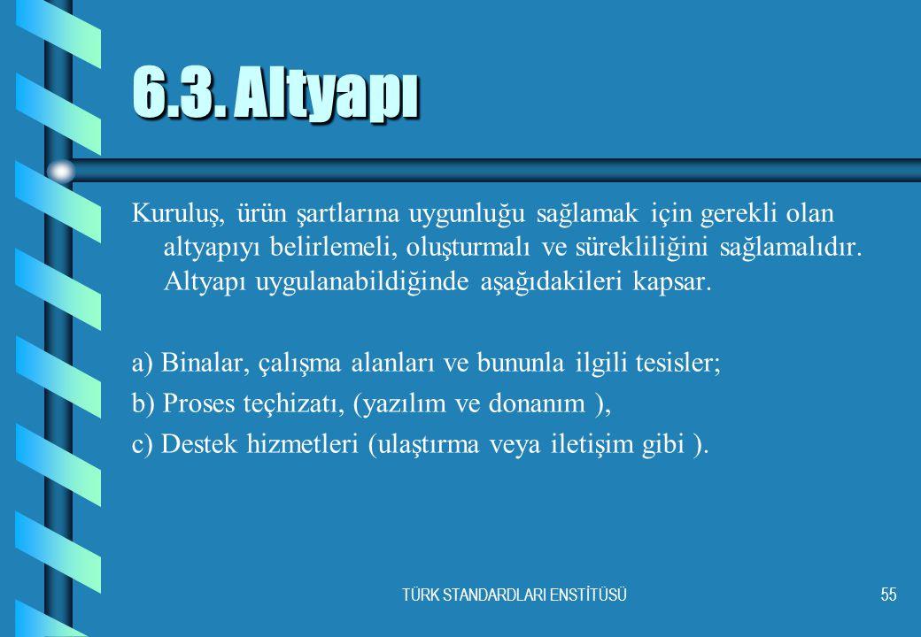 TÜRK STANDARDLARI ENSTİTÜSÜ55 6.3.