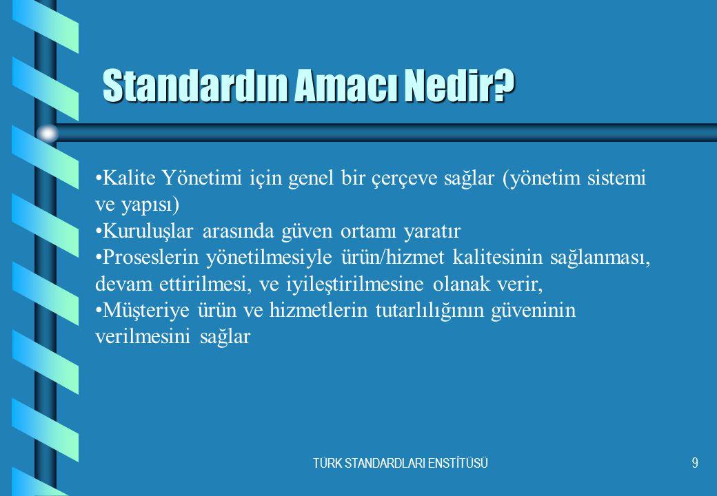 TÜRK STANDARDLARI ENSTİTÜSÜ9 Standardın Amacı Nedir.