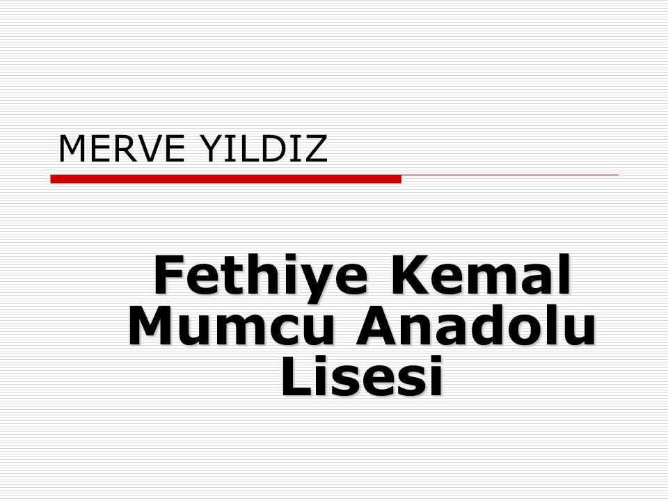 SEYMA MÜMINE ARITÜRK Tevfik İleri Anadolu İmam Hatip Lisesi