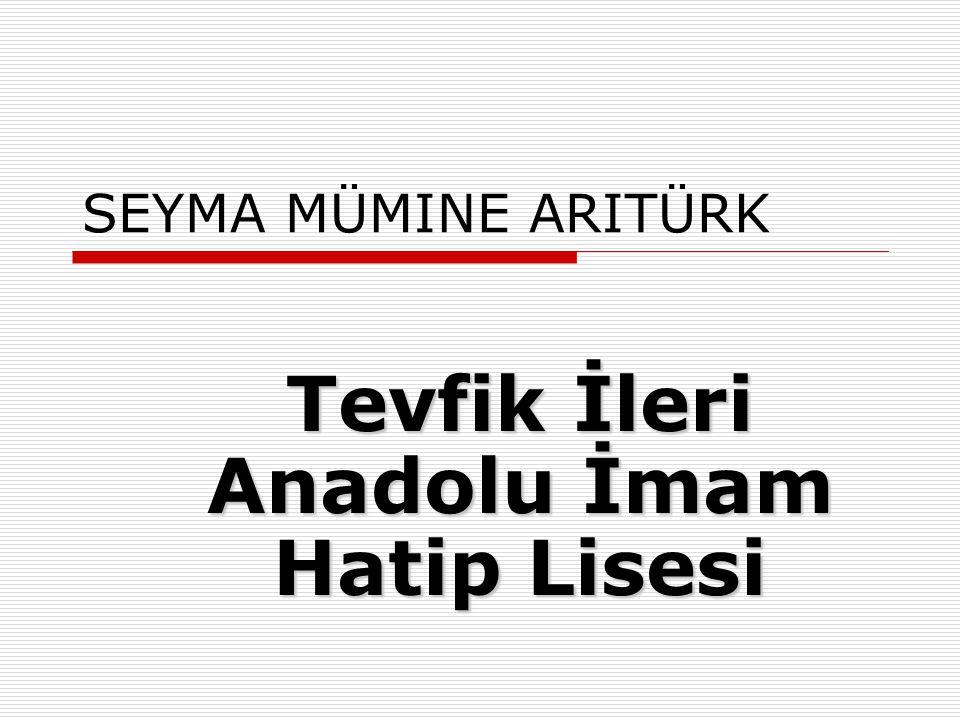 EDA ATAY Milli Eğitim Bakanı Ali Naili Erdem Anadolu Lisesi