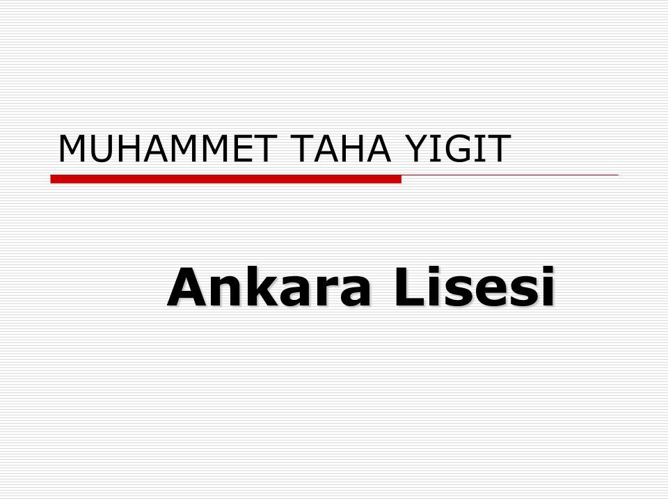 FATMA ŞEYMA DOĞAN Dede Korkut Anadolu Lisesi