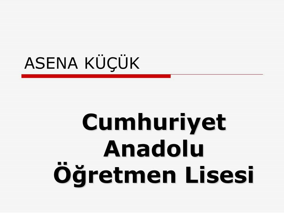BUGRA ÇALISKAN Prof. Dr. Şevket Raşit Hatipoğlu Anadolu Lisesi