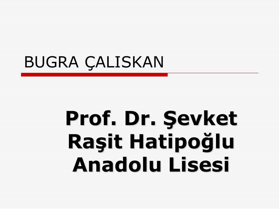 ESMA KARADEMIR Prof. Dr. Şevket Raşit Hatipoğlu Anadolu Lisesi