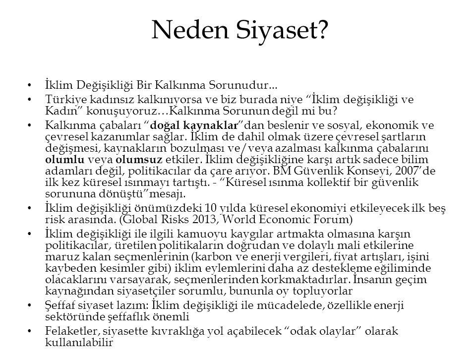"""Neden Siyaset? • İklim Değişikliği Bir Kalkınma Sorunudur... • Türkiye kadınsız kalkınıyorsa ve biz burada niye """"İklim değişikliği ve Kadın"""" konuşuyor"""