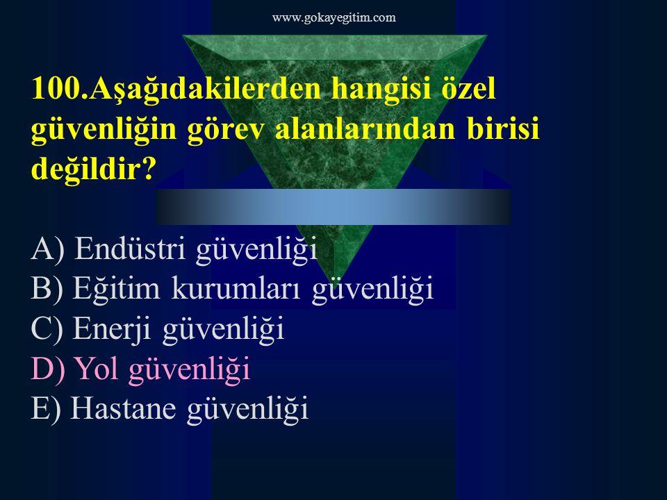 www.gokayegitim.com 111 ÖZEL GÜVENLİK EĞİTİM KİTABI Sipariş Tel; 0534 080 02 80 0505 378 63 77
