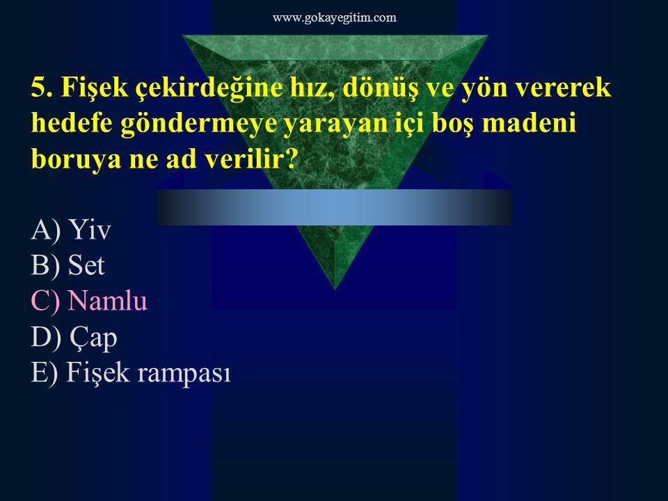 www.gokayegitim.com 6.Namlu içerisinde bulunan çıkıntılara ne ad verilir.