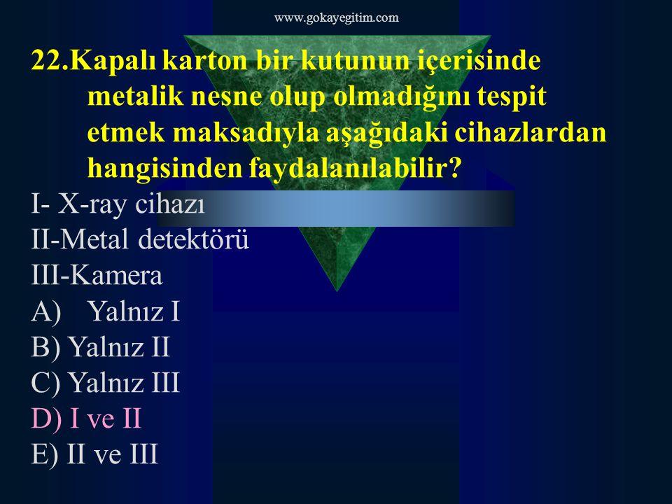 www.gokayegitim.com 23.Telsiz haberleşmesiyle ilgili olarak aşağıdaki ifadelerden hangisi yanlıştır.