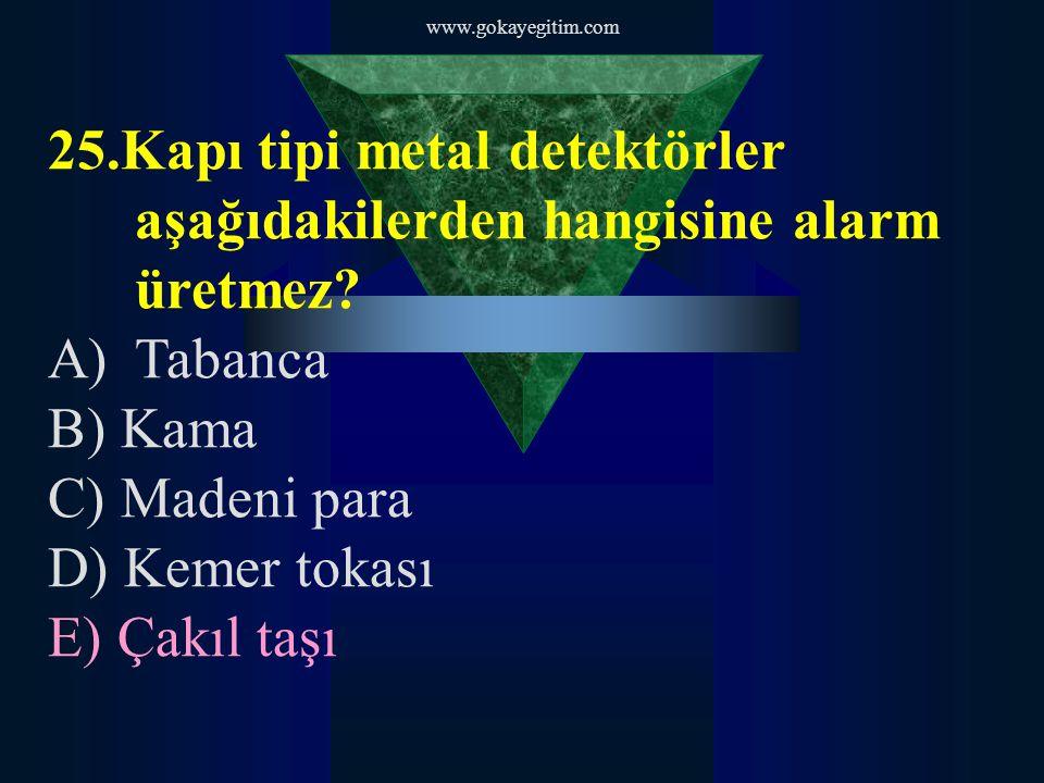 www.gokayegitim.com 26.Aşağıdakilerden hangisi ilk yardımı yapacak kişide mutlaka bulunması gereken özelliklerden biridir.