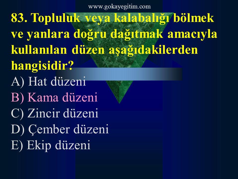 www.gokayegitim.com 84.Aşağıdakilerden hangisi toplum psikolojisinin özelliklerinden değildir.
