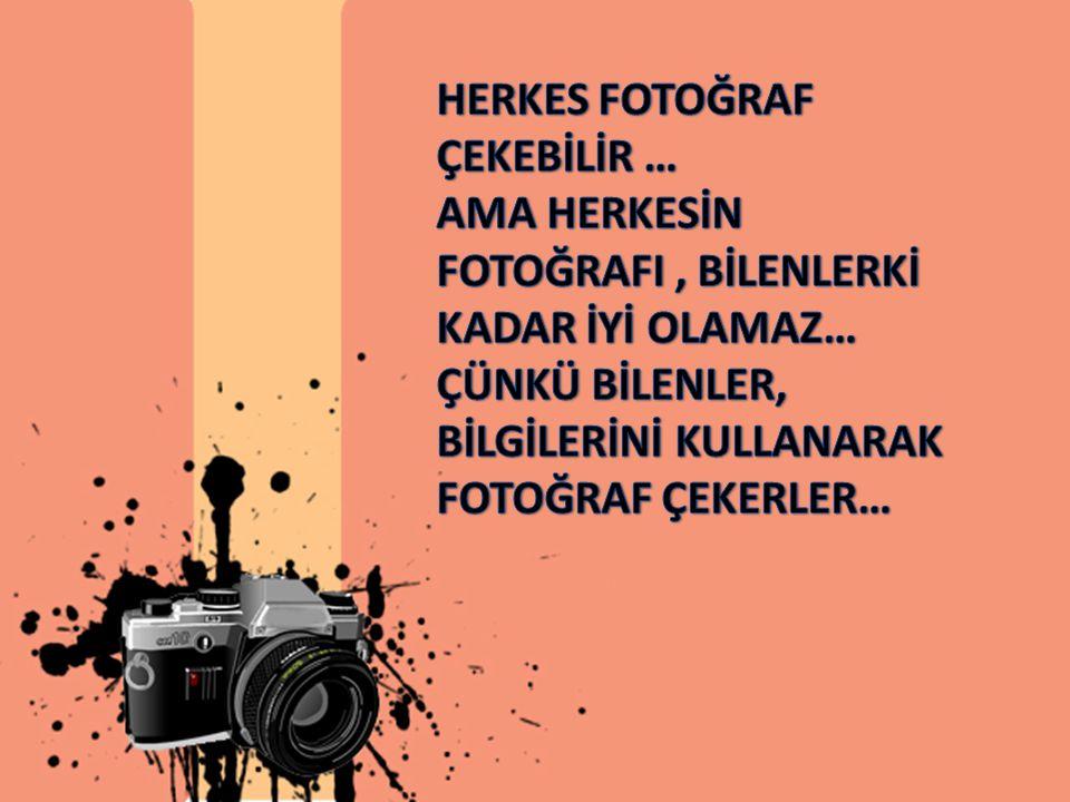 Fotoğraf makinesi, ışık ile resim çizmeye yarayan alete denir.